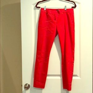 Express Pants - Express red/orange columnist ankle dress pant Sz 0